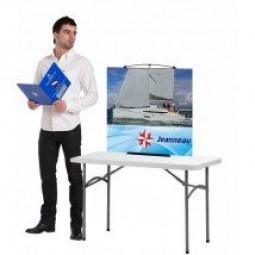 Desktop Twist Banner Stand