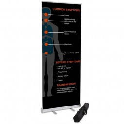 800mm Wide Banner Stand - Coronavirus Design 3