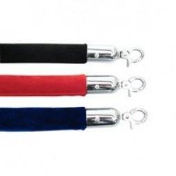 Velvet Rope 1.5m Red, Blue, Black