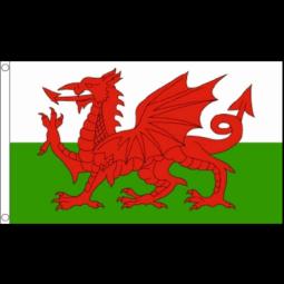 Welsh Flag - 5ft x 3ft - Promotional