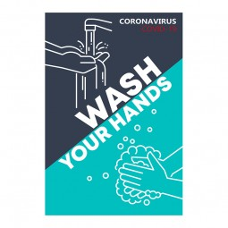 Wash Your Hands - Pack of 10 - A2 Poster or Sticker