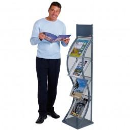 Mesh Free Standing Brochure Holder - 4/8xA4