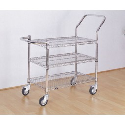 3 Tier Chrome Wire Trolley