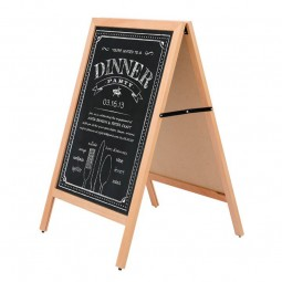 Chalkboard pens used to display message