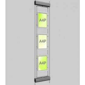 3x A4 Rotating Micro Bevel Edge Light Panels