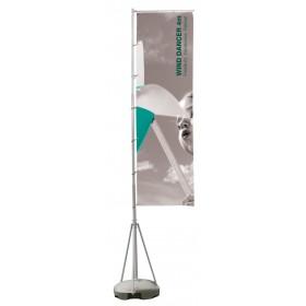 4 Metre telescopic Event Flag Pole