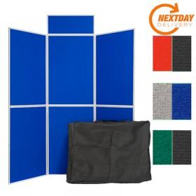6 Panel Folding Display Board  - Plastic frame