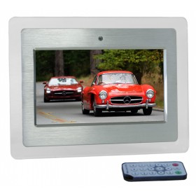 "7"" Lumina Silver Digital Photo Frame"