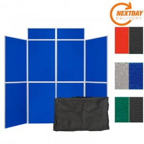 8 Panel Folding Display Board - Plastic frame