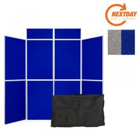 8 Panel Folding Display Boards Aluminium frame