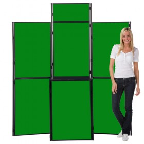 9 Panel Slimflex Pole & Panel - Plastic Frame