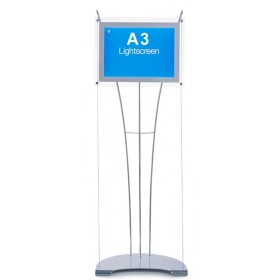 A3 Free Standing illuminated Display