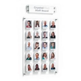 Clear Acrylic Staff Board