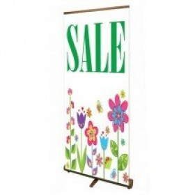 Bamboo Roller Banner Stand 850mm wide
