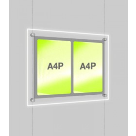 A4 Double Portrait Illuminated Cable Display