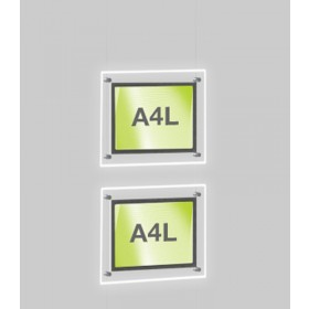 2x A4 Single Landscape Illuminated Cable Display