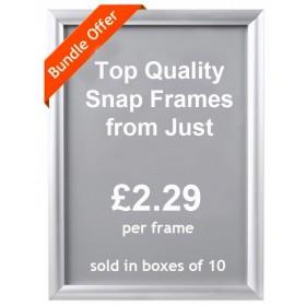 Aluminium Snap Poster Frame Bundles - A4, A3, A2, A1, A0