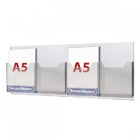 Cable System Leaflet Dispenser - 4xA5 on A1 Centres
