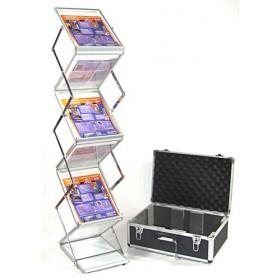 Compact Folding Literature Rack - 6xA4