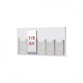 Cable System Leaflet Dispenser - 5 x 1/3 A4 on A1 Centres