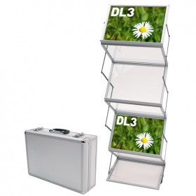 Compact Double Folding Literature Display
