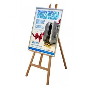 Display Easel with Poster Frame