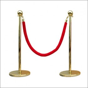 Rope and Post Offer - 8 Gold Posts + 7 Red Ropes