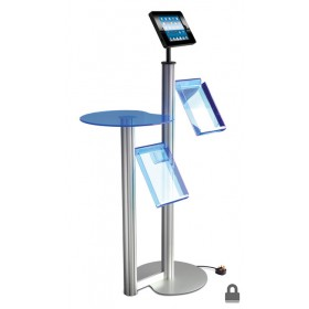 Floor Standing iPad Display w/ 2x Brochure Holders