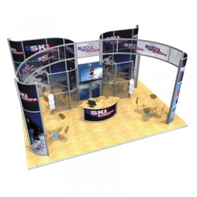 Large Modular Stand Open 3 Sides - 8x6m