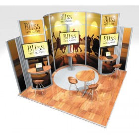 Small Modular Stand Open 2 Sides - 4x4m