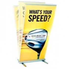 Roller Outdoor Banner Stand 850mm wide