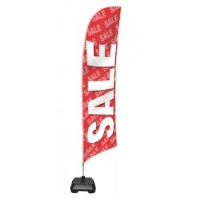 """Sale"" Flag - Pre Printed flag, base and pole"