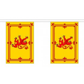 Scottish Lion Bunting - 10 Flags / 3m Length