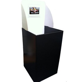 "Square Dump Bin with 7"" Digital Screen"