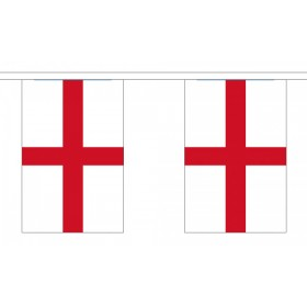 St George English Bunting - Large 30 Flags / 18.25m Length