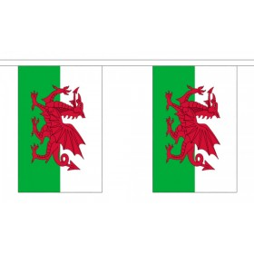 Welsh Bunting - 10 Flags / 3m Length