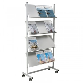 Wheeled Steel Brochure Holder
