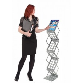 Z-Up Folding Literature Rack