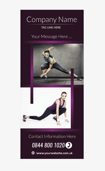 Fitness Banner 7 - Banner Stand 106