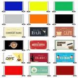 Pre-Designed Cafe Barrier Banners