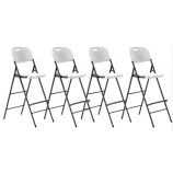 Set of 4 Folding Plastic Bar Stools - price per set