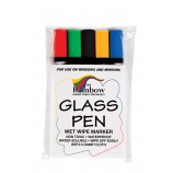 Glass Write-On Board - Narrow Tip Pens - Coloured Pack of 5