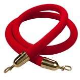 1.5m Red Velvet Rope - Gold End