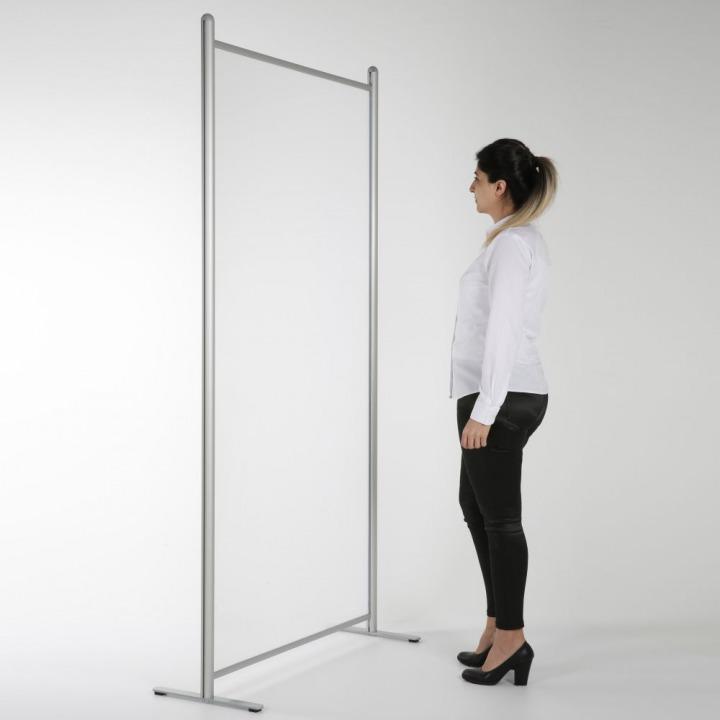 floor standing hygiene screens