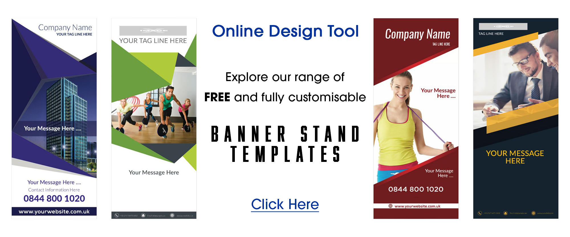 use our free banner design tool with templates