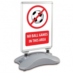 School A1 Windjammer Pavement Sign - No Ball Games In This Area