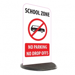 School Economy Pavement Sign - No Parking Or Drop Off's