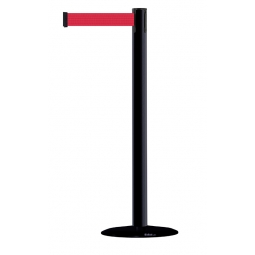 Advanced Tensabarrier - 2.3m - Black Post - Red Tape