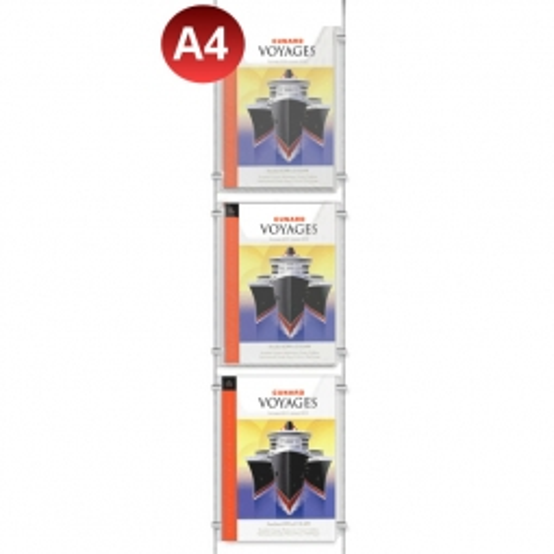 3x A4 Leaflet Holder Kit