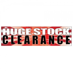 Huge Stock Clearance - Banner 199